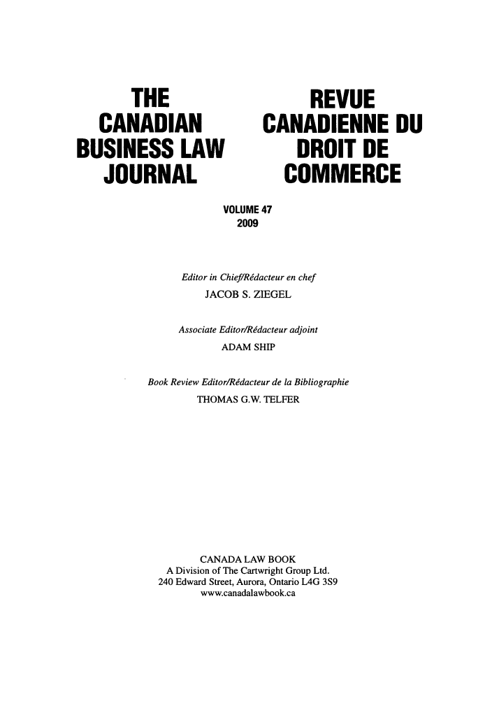 handle is hein.journals/canadbus47 and id is 1 raw text is: THE