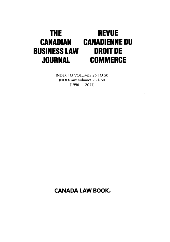 handle is hein.journals/canadbus52 and id is 1 raw text is: THE