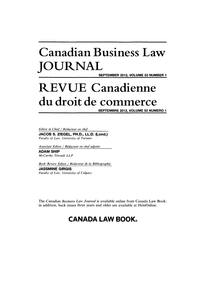 handle is hein.journals/canadbus53 and id is 1 raw text is: Canadian Business Law