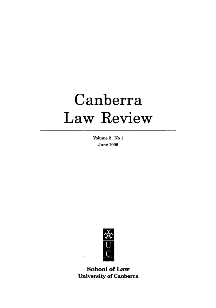 handle is hein.journals/canbera2 and id is 1 raw text is: Canberra