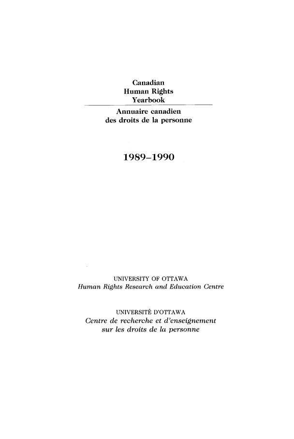 handle is hein.journals/canhry1989 and id is 1 raw text is: Canadian