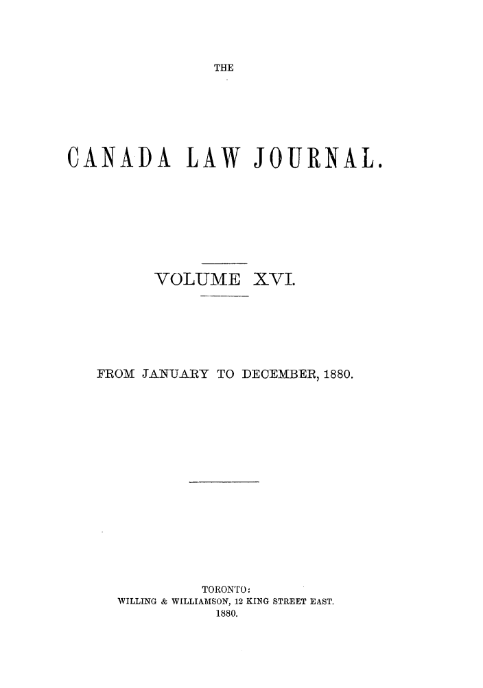 handle is hein.journals/canljtns16 and id is 1 raw text is: THE