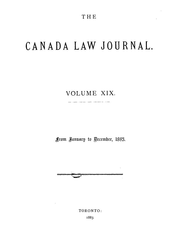 handle is hein.journals/canljtns19 and id is 1 raw text is: THE