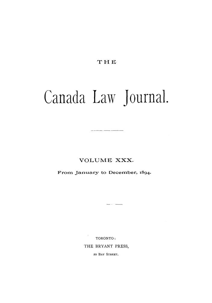 handle is hein.journals/canljtns30 and id is 1 raw text is: THI E