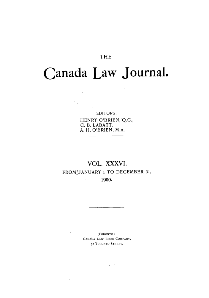 handle is hein.journals/canljtns36 and id is 1 raw text is: THE