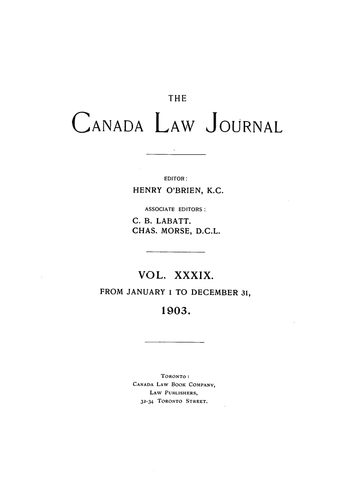 handle is hein.journals/canljtns39 and id is 1 raw text is: THE