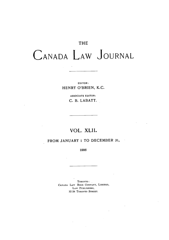 handle is hein.journals/canljtns42 and id is 1 raw text is: THE