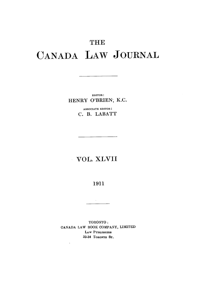 handle is hein.journals/canljtns47 and id is 1 raw text is: THE