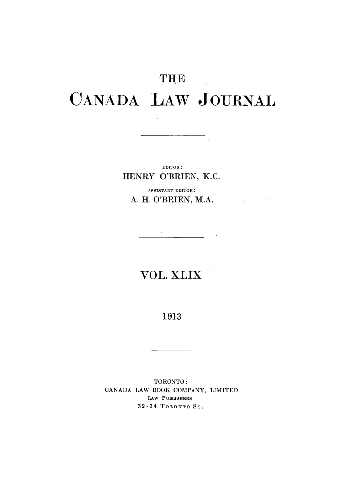 handle is hein.journals/canljtns49 and id is 1 raw text is: THE