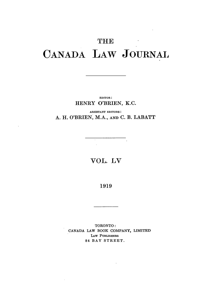 handle is hein.journals/canljtns55 and id is 1 raw text is: THE
