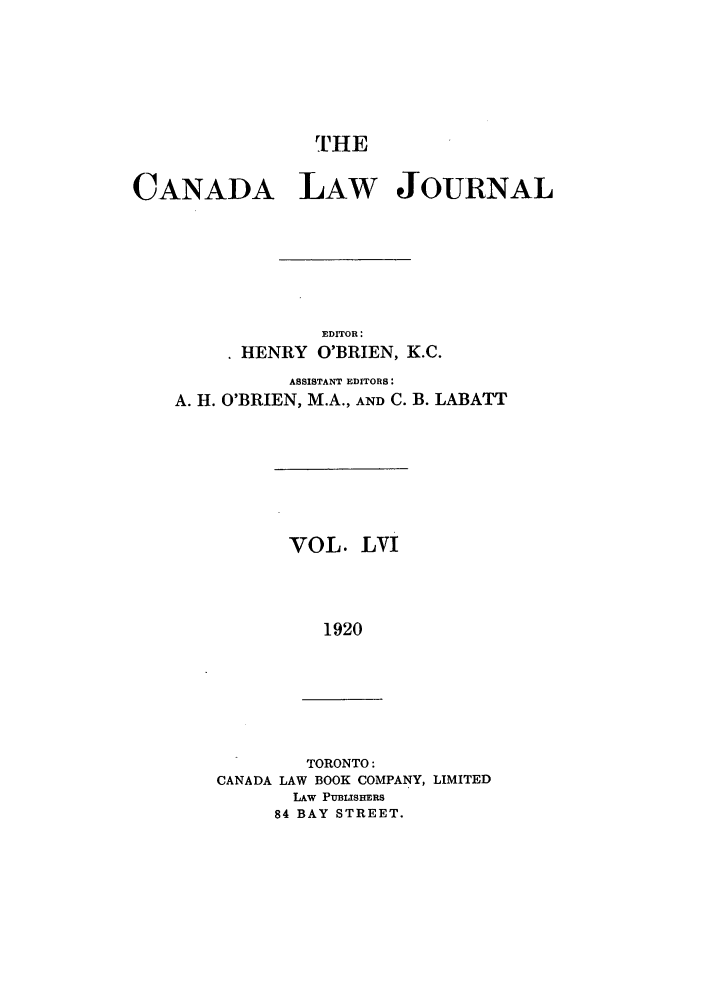 handle is hein.journals/canljtns56 and id is 1 raw text is: rHE