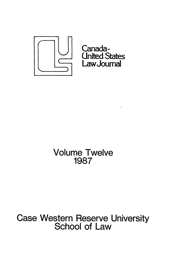 handle is hein.journals/canusa12 and id is 1 raw text is: U Canada-