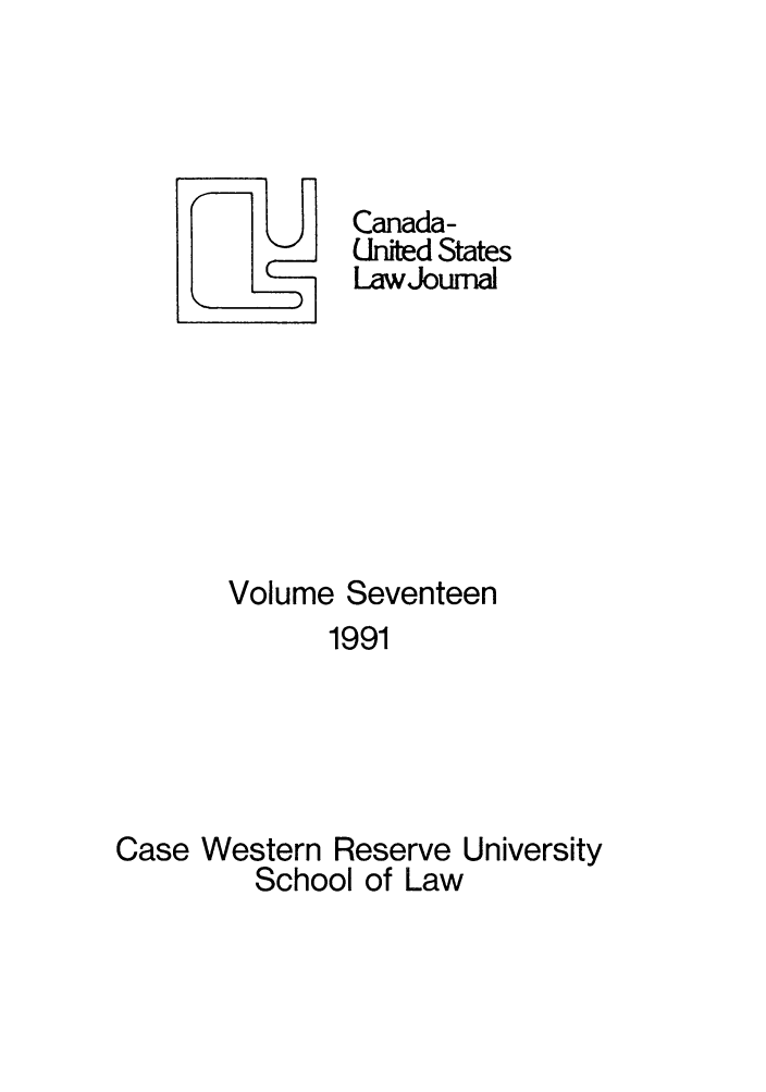 handle is hein.journals/canusa17 and id is 1 raw text is: Canada-