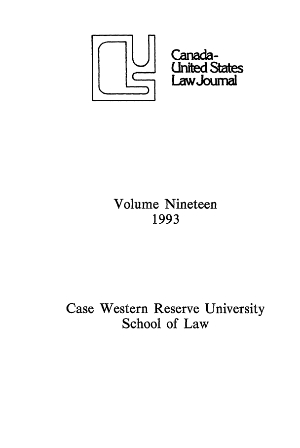 handle is hein.journals/canusa19 and id is 1 raw text is: Chbe States