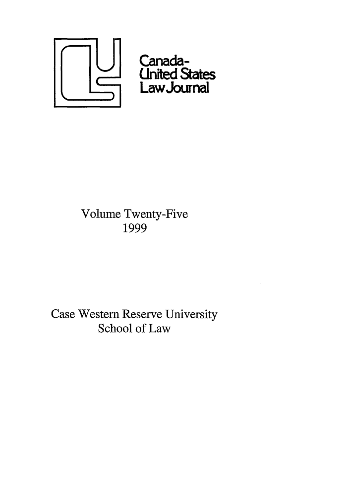 handle is hein.journals/canusa25 and id is 1 raw text is: Canada-