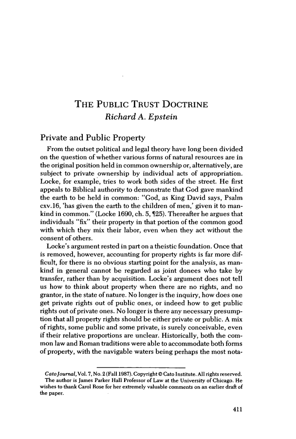 handle is hein.journals/catoj7 and id is 415 raw text is: THE PUBLIC TRUST DOCTRINE
