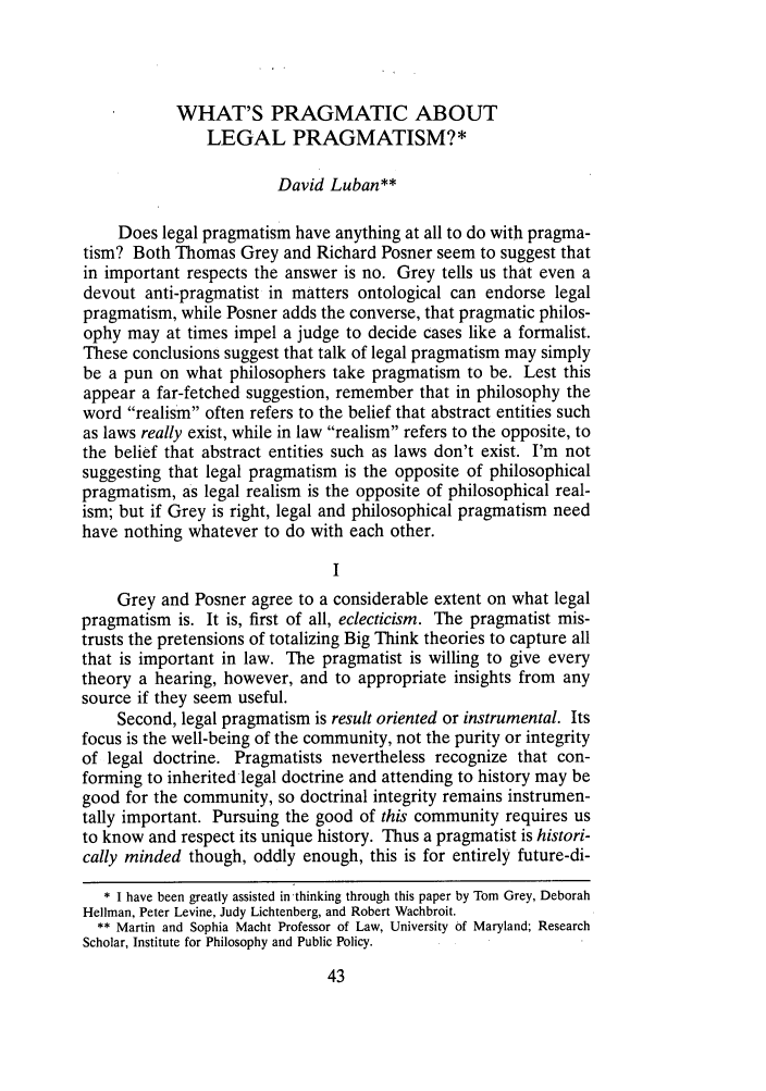 handle is hein.journals/cdozo18 and id is 61 raw text is: WHAT'S PRAGMATIC ABOUT