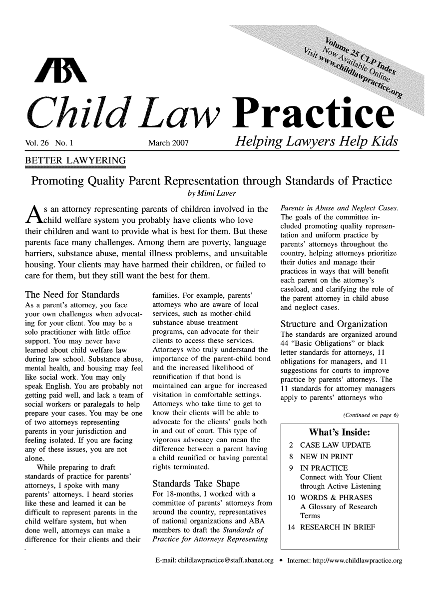 handle is hein.journals/chilawpt26 and id is 1 raw text is: Ghild Law Practice
