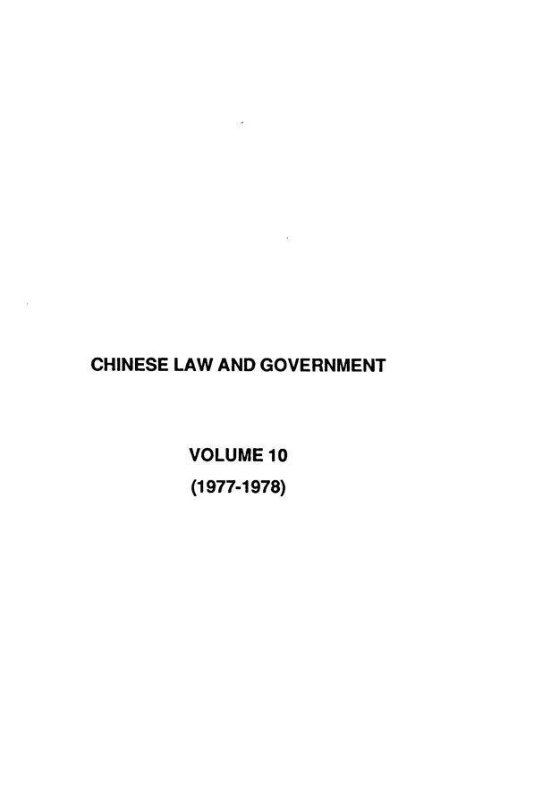 handle is hein.journals/chinelgo10 and id is 1 raw text is: 