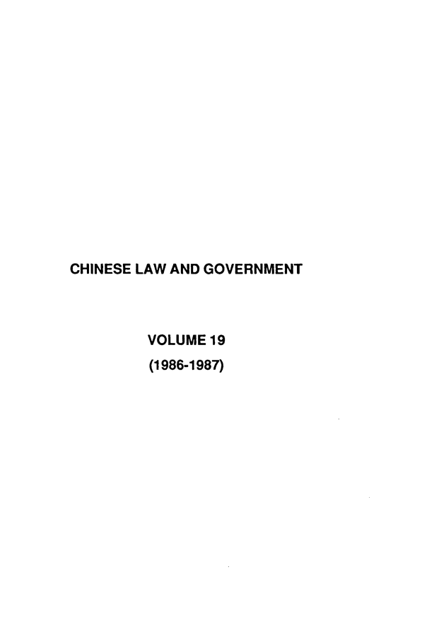 handle is hein.journals/chinelgo19 and id is 1 raw text is: 