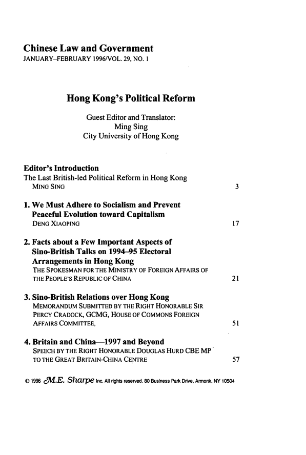 handle is hein.journals/chinelgo29 and id is 1 raw text is: 