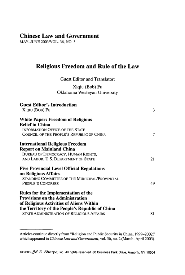handle is hein.journals/chinelgo36 and id is 215 raw text is: 
