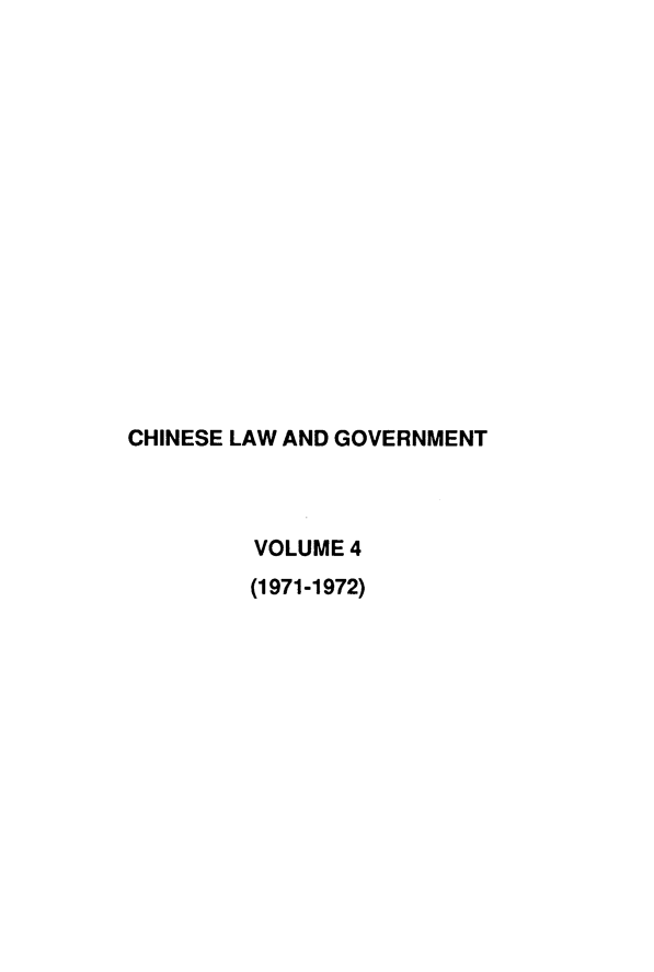 handle is hein.journals/chinelgo4 and id is 1 raw text is: 
