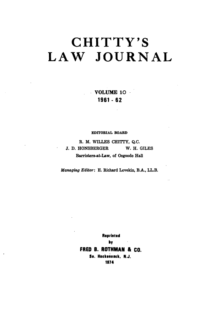 handle is hein.journals/chittylj10 and id is 1 raw text is: CHITTY'S