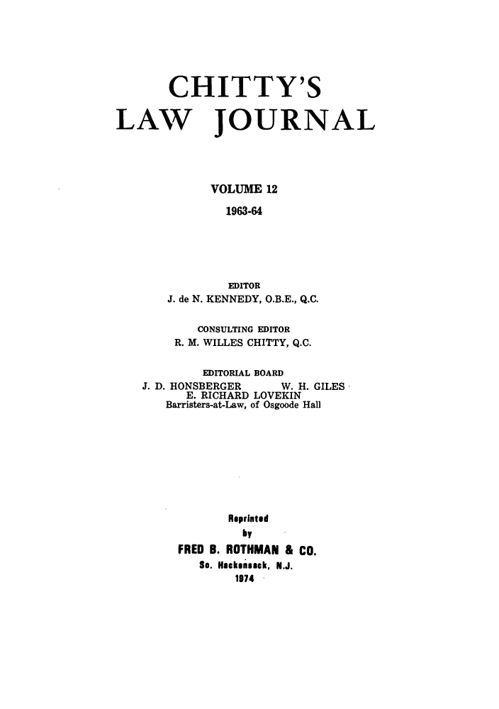 handle is hein.journals/chittylj12 and id is 1 raw text is: CHITTY'S