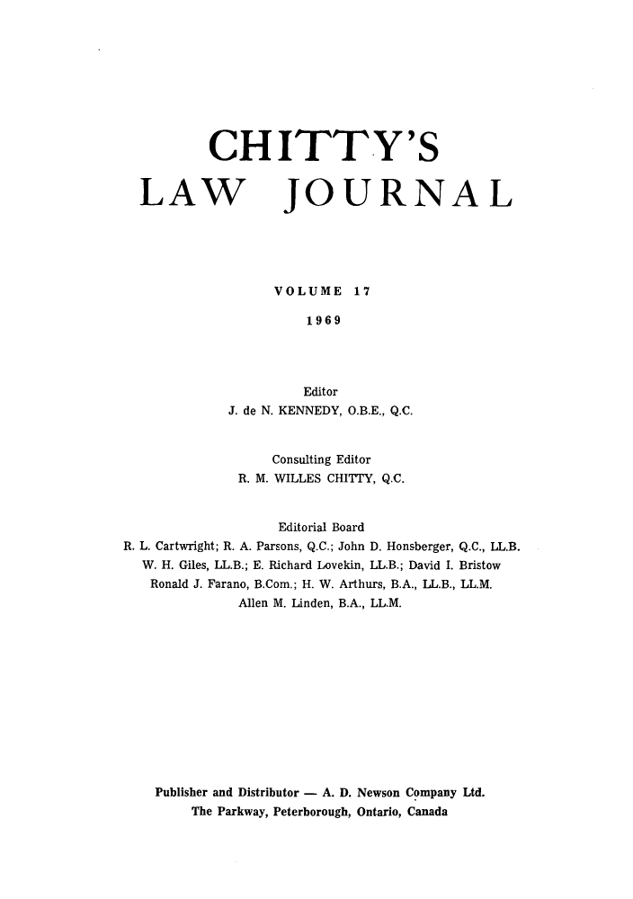 handle is hein.journals/chittylj17 and id is 1 raw text is: CHITTY'S