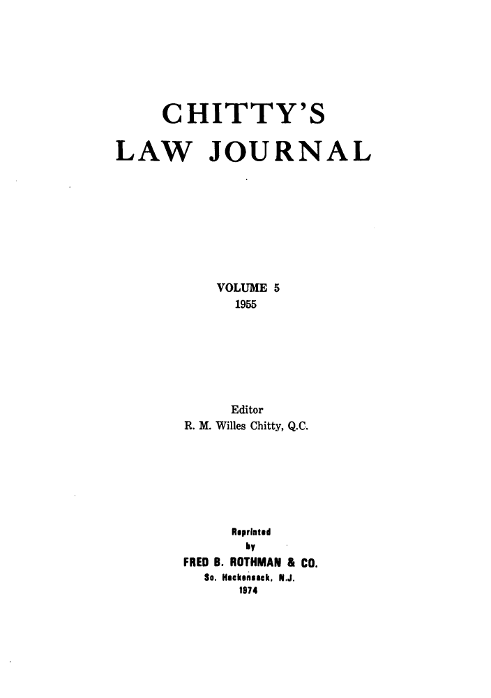 handle is hein.journals/chittylj5 and id is 1 raw text is: CHITTY'S