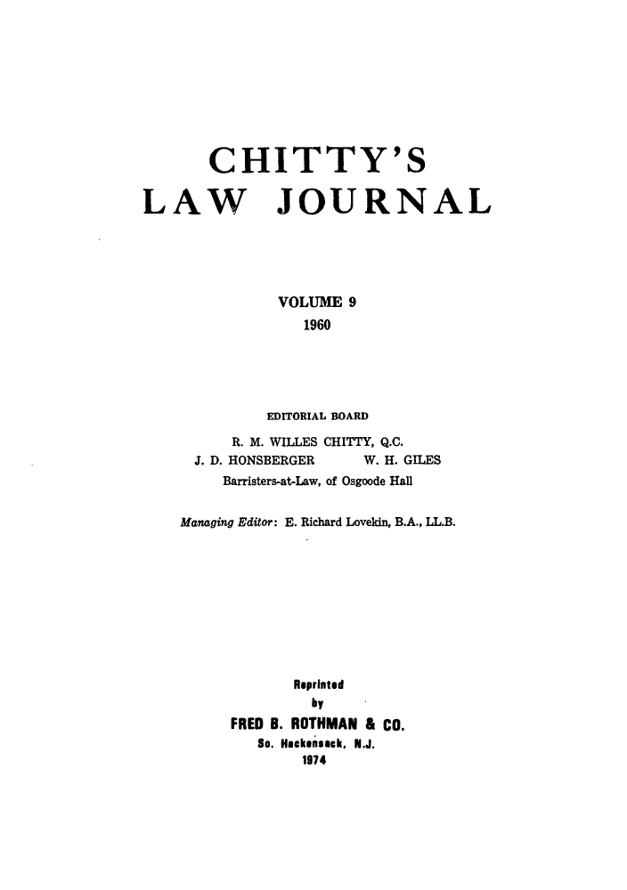 handle is hein.journals/chittylj9 and id is 1 raw text is: CHITTY'S