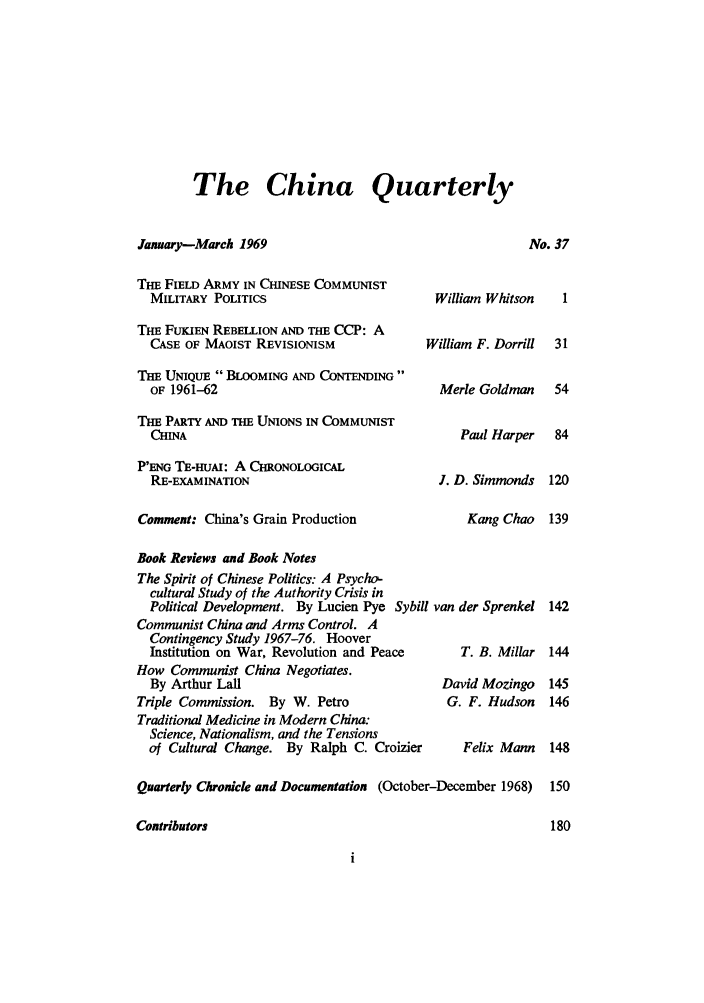 handle is hein.journals/chnaquar10 and id is 1 raw text is: The China Quarterly