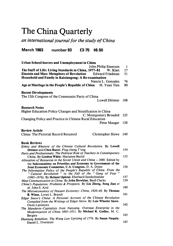 handle is hein.journals/chnaquar24 and id is 1 raw text is: The China Quarterly