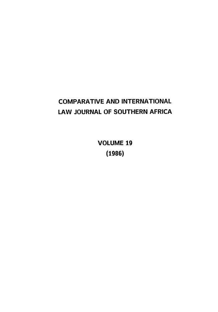 handle is hein.journals/ciminsfri19 and id is 1 raw text is: COMPARATIVE AND INTERNATIONAL