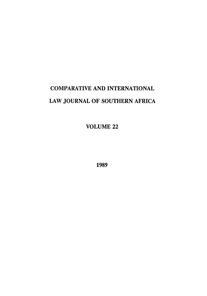 handle is hein.journals/ciminsfri22 and id is 1 raw text is: COMPARATIVE AND INTERNATIONAL