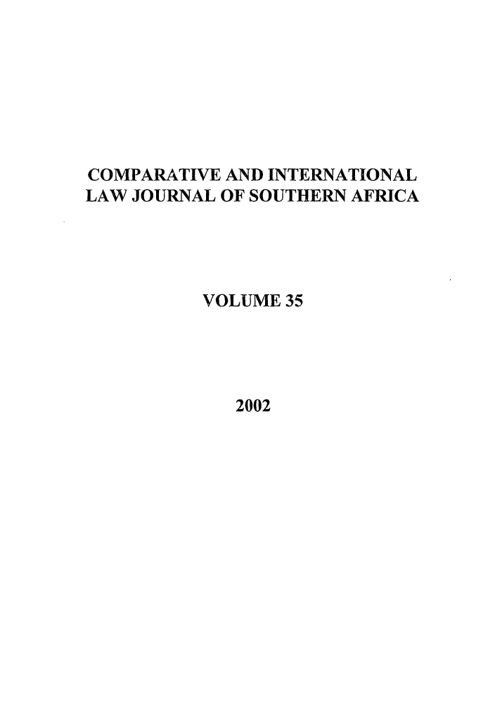 handle is hein.journals/ciminsfri35 and id is 1 raw text is: COMPARATIVE AND INTERNATIONAL