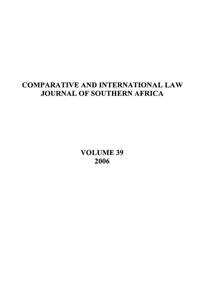 handle is hein.journals/ciminsfri39 and id is 1 raw text is: COMPARATIVE AND INTERNATIONAL LAW