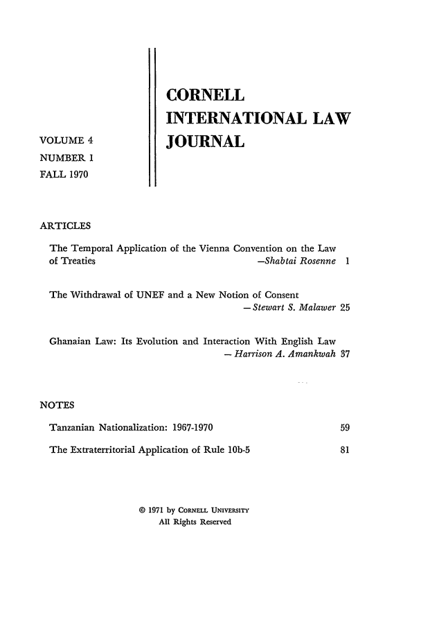handle is hein.journals/cintl4 and id is 5 raw text is: VOLUME 4