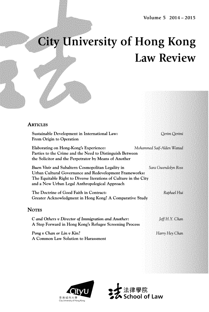 handle is hein.journals/ciunhok5 and id is 1 raw text is: 