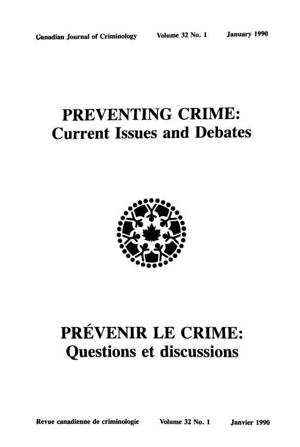 handle is hein.journals/cjccj32 and id is 1 raw text is: January 1990