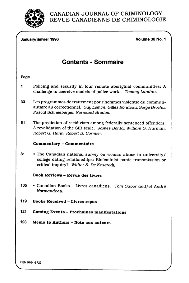 handle is hein.journals/cjccj38 and id is 1 raw text is: W. 004
