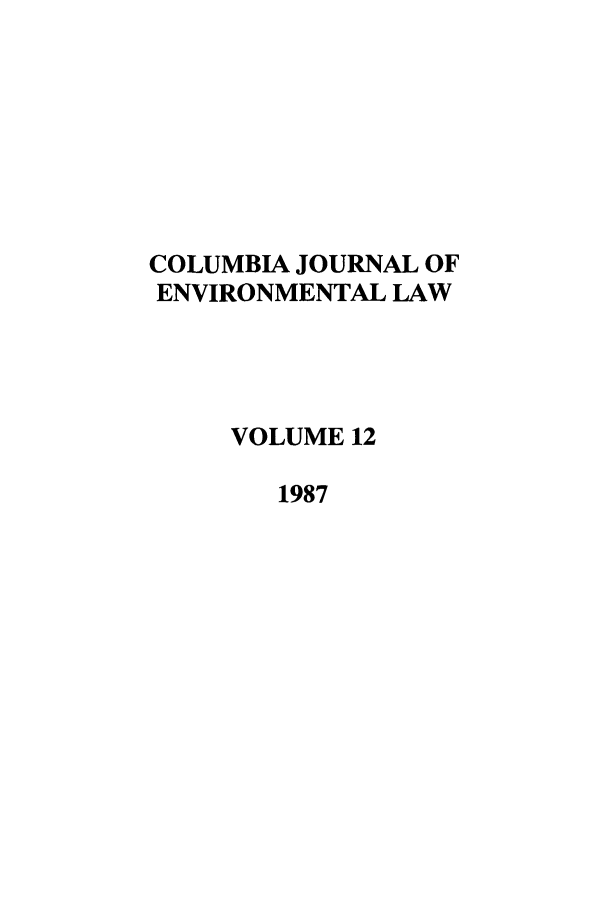 handle is hein.journals/cjel12 and id is 1 raw text is: COLUMBIA JOURNAL OF