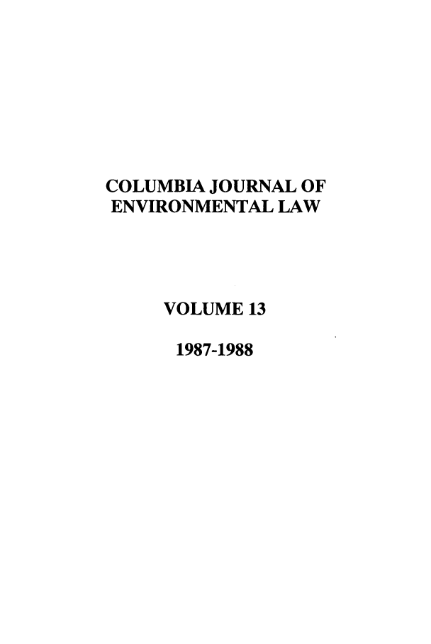 handle is hein.journals/cjel13 and id is 1 raw text is: COLUMBIA JOURNAL OF