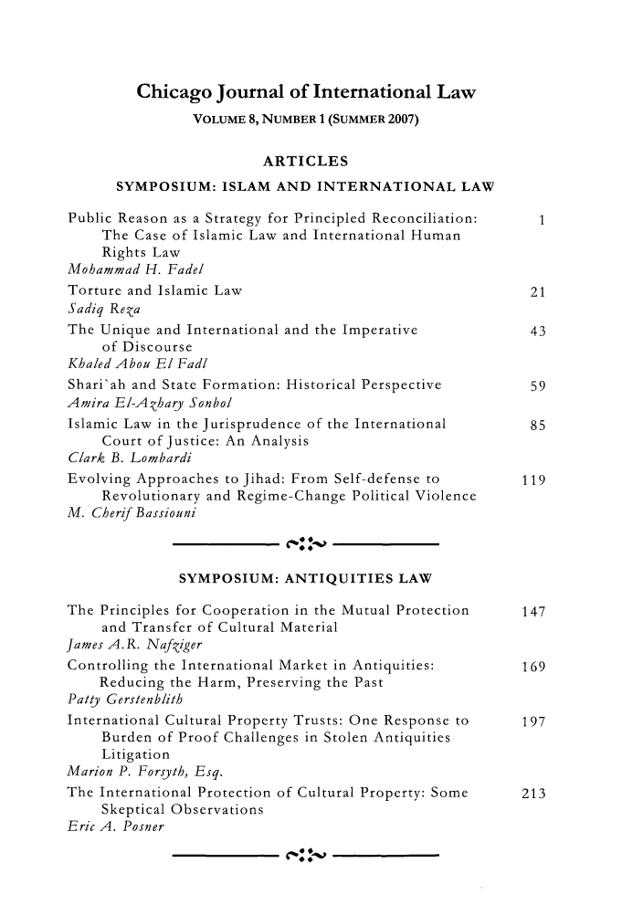 handle is hein.journals/cjil8 and id is 1 raw text is: Chicago Journal of International Law