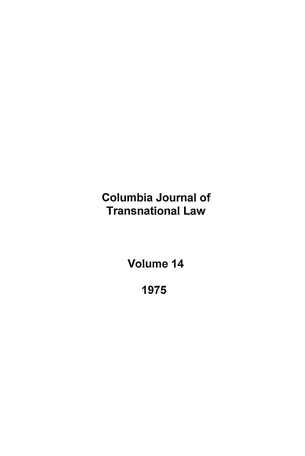 handle is hein.journals/cjtl14 and id is 1 raw text is: Columbia Journal of