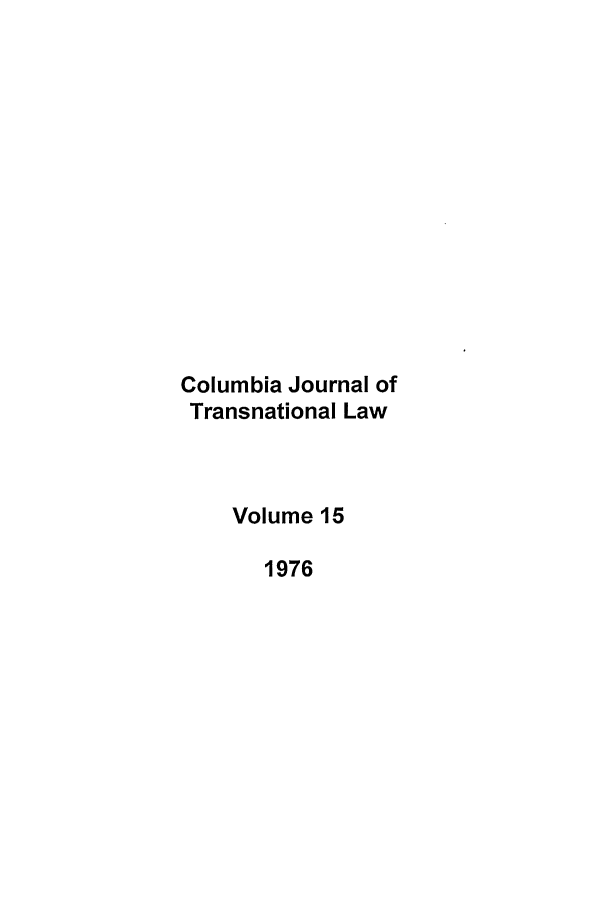 handle is hein.journals/cjtl15 and id is 1 raw text is: Columbia Journal of