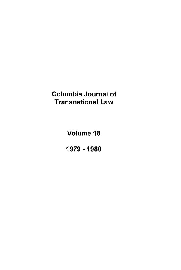 handle is hein.journals/cjtl18 and id is 1 raw text is: Columbia Journal of