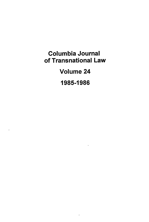 handle is hein.journals/cjtl24 and id is 1 raw text is: Columbia Journal