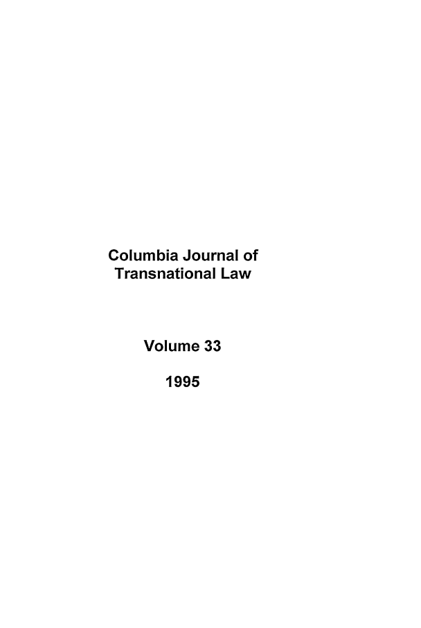 handle is hein.journals/cjtl33 and id is 1 raw text is: Columbia Journal of